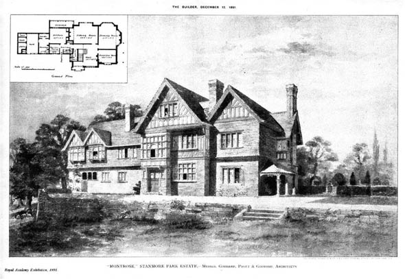 1891 &#8211; &#8220;Montrose&#8221;, Stanmore Park Estate, London
