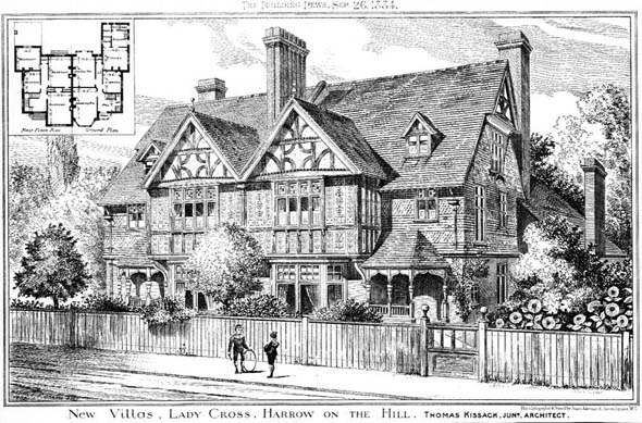 1884 – New Villas, Lady Cross, Harrow on the Hill, London