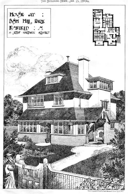 1904 &#8211; House at Bush Hill Park, Enfield, London
