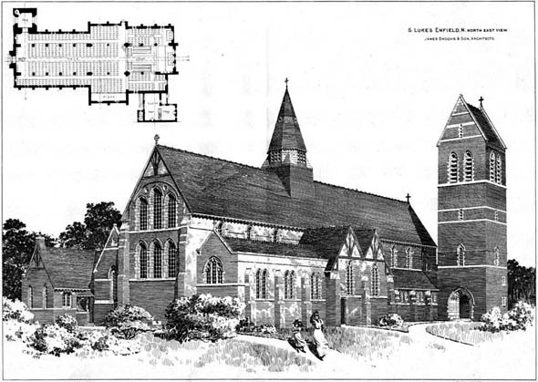 1898 &#8211; St Luke&#8217;s Church, Enfield, London
