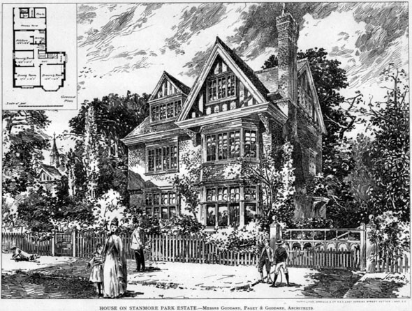 1892 &#8211; House on The Stanmore Park Estate, London