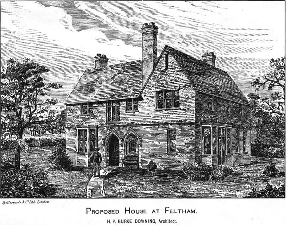 1886 – Proposed House at Feltham, Middlesex