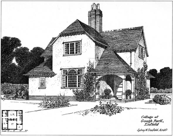 1904 – Cottage, Gough Park, Enfield, London