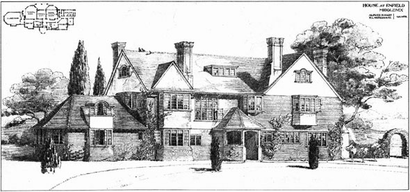 1905 &#8211; House at Enfield, London