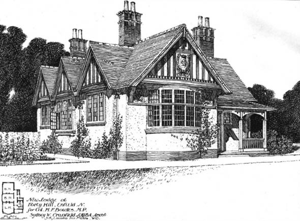 1903 &#8211; New Lodge at Forty Hill, Enfield, London