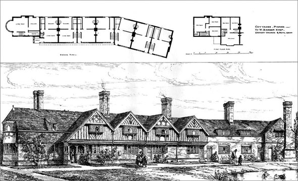 1879 – Cottages, Pinner, Middlesex