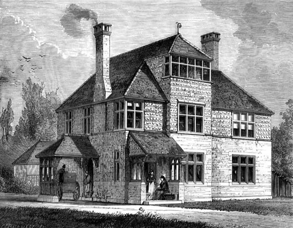1872 &#8211; Cottage Hospital, Harrow on the Hill, London