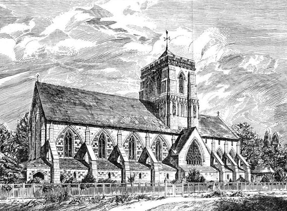 1884 &#8211; St. Saviour&#8217;s Church, Sunbury on Thames, Middlesex
