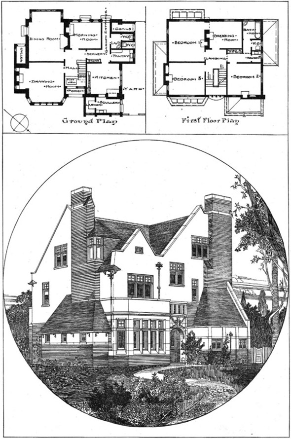 1901 –  House at Pinner, London