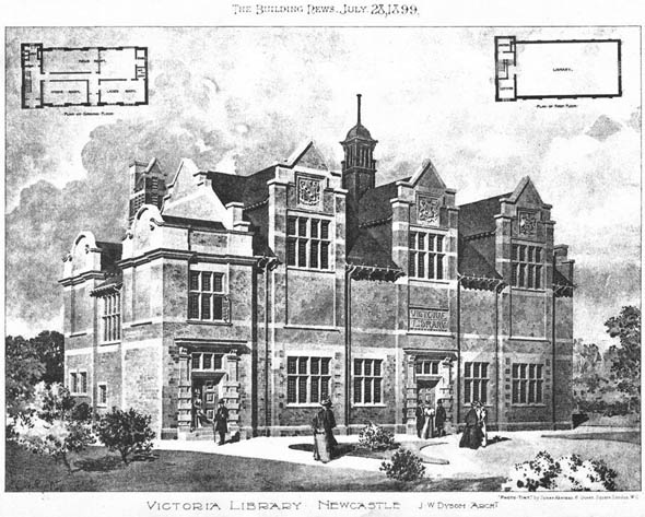 1899 &#8211; Victoria Library, Newcastle upon Tyne