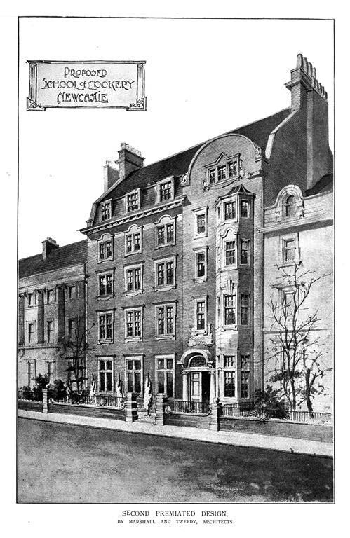 1900 &#8211; Proposed School of Cookery, Newcastle upon Tyne