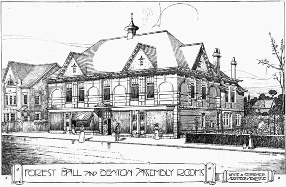 1906 &#8211; Assembly Rooms, Forest Hall &#038; Benton, Northumberland