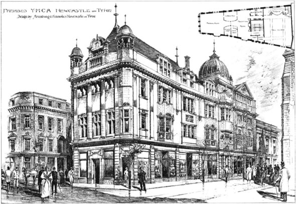 1896 &#8211; Y.M.C.A. Premises, Newcastle upon Tyne