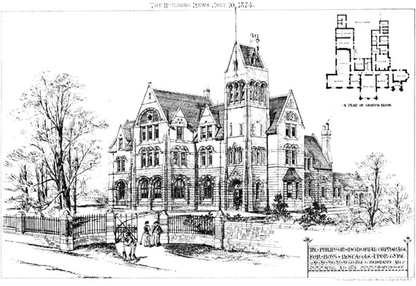 1874 – Phillipson Memorial Orphanage For Boys, Newcastle upon Tyne