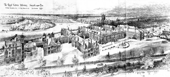 1901 &#8211; The Royal Victoria Infirmary, Newcastle upon Tyne