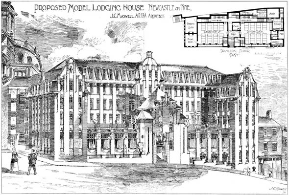 1903 &#8211; Proposed Model Lodging House, Newcastle upon Tyne