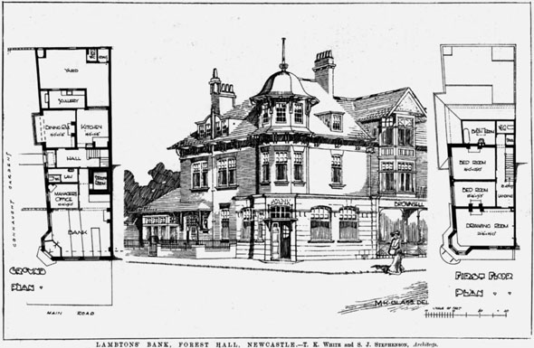 1906 &#8211; Lambtons Bank, Forest Hall, Newcastle upon Tyne