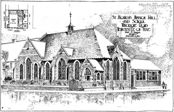 1906 &#8211; St. Monica&#8217;s Mission Hall &#038; School, Wingrove Road, Newcastle upon Tyne