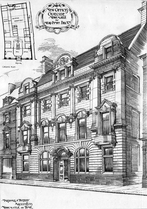 1901 – New Offices, Quayside, Newcastle upon Tyne