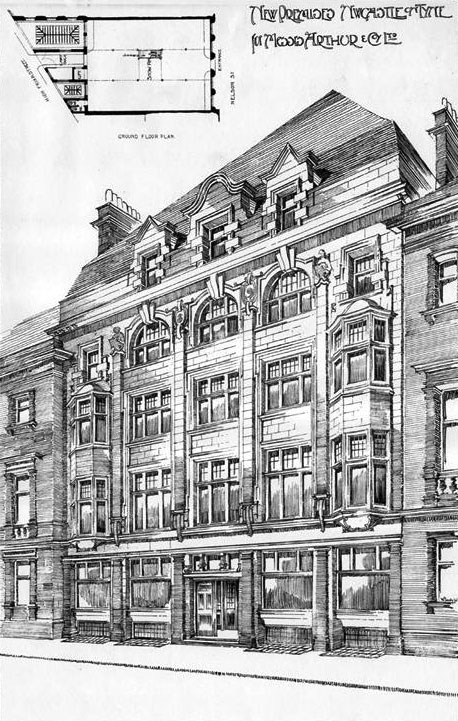 1901 &#8211; New Premises, Nelson Street, Newcastle upon Tyne
