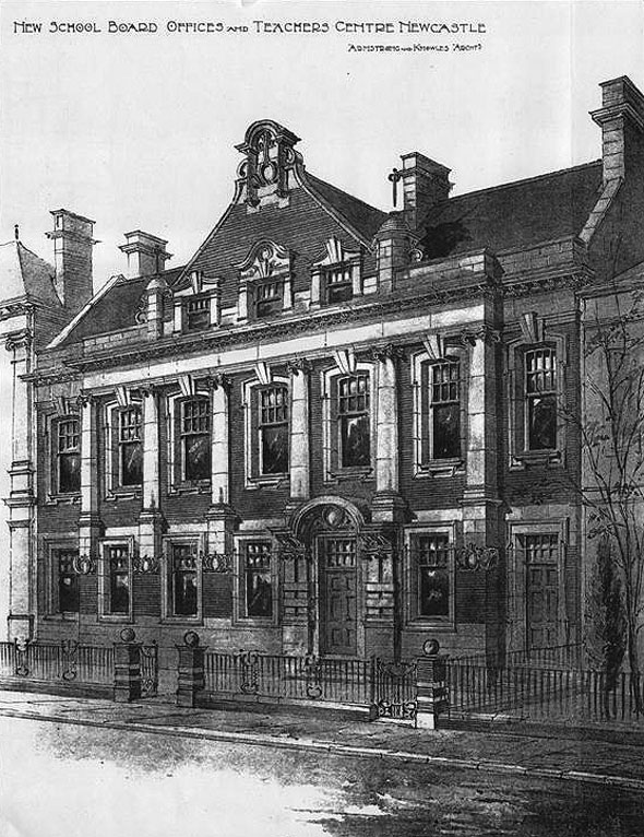 1900 &#8211; New School Board Offices &#038; Teachers Centre, Newcastle upon Tyne