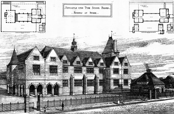 1880 &#8211; Schools at Byker, Newcastle upon Tyne
