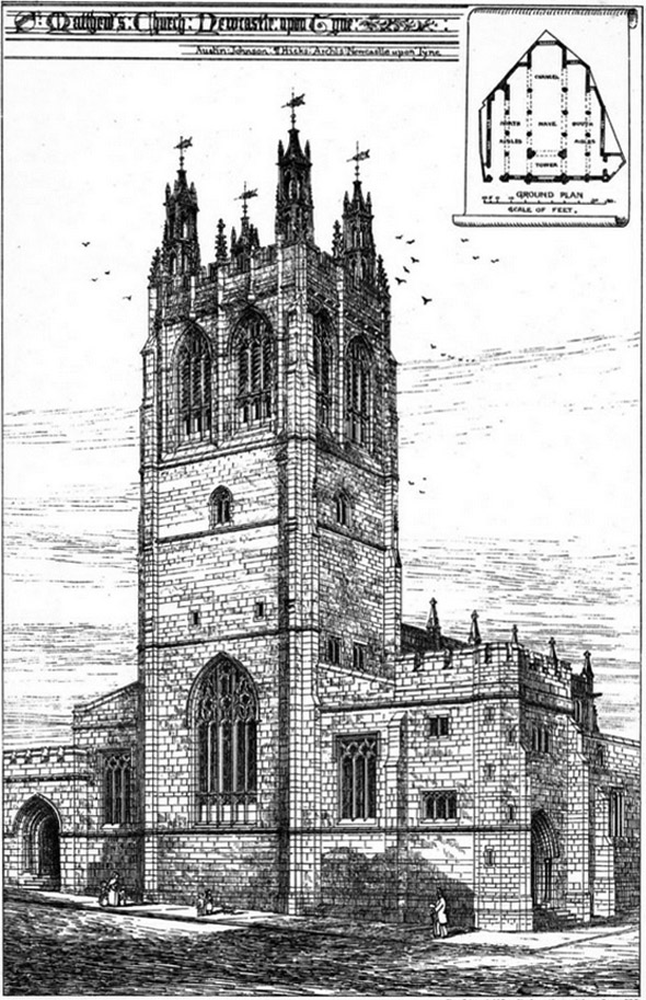 1880 – St. Matthew's Church, Newcastle upon Tyne