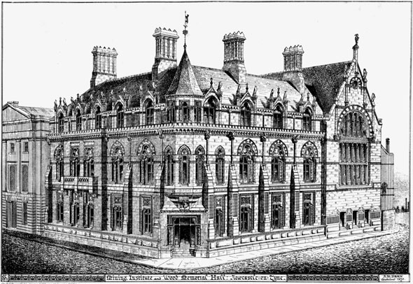 1868 &#8211; The Mining Institute &#038; Wood Memorial Hall, Newcastle upon Tyne