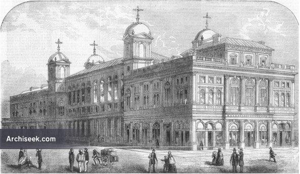 1855 – Design for Town Hall, Newcastle upon Tyne