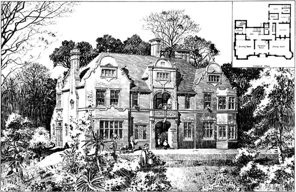 1897 &#8211; House at Thorpe Hamlet, Nr. Norwich, Norfolk