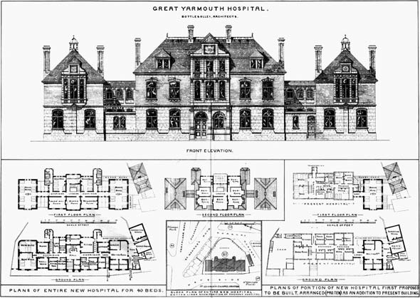 1884 &#8211; Great Yarmouth Hospital, Norfolk