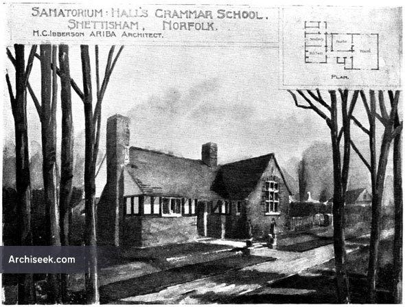 1900 – Sanatorium Halls, Grammar School, Snettisham, Norfolk