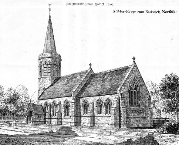 1876 &#8211; St. Peters Church, Repps cum Bastwick, Norfolk