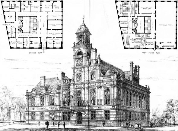 1878 &#8211; Municipal Buildings, Great Yarmouth, Norfolk