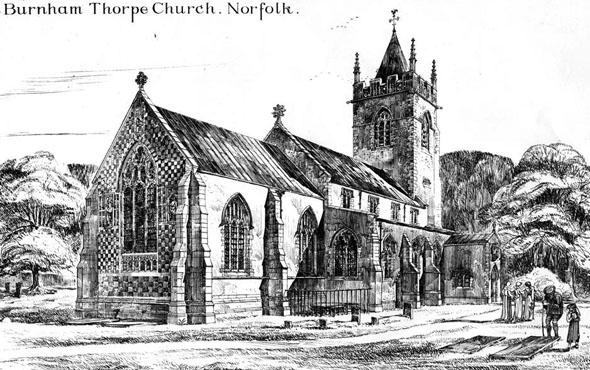1885 – Burnham Thorpe Church, Norfolk
