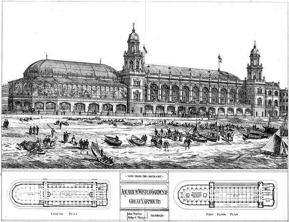 1875 &#8211; Aquarium &#038; Winter Garden, Great Yarmouth, Norfolk