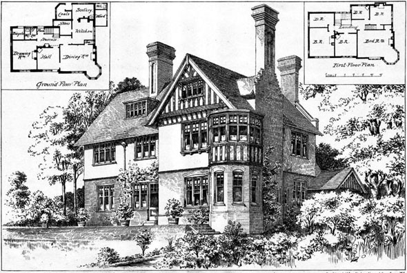 1899 –  Residence at Brundall, Norwich, Norfolk