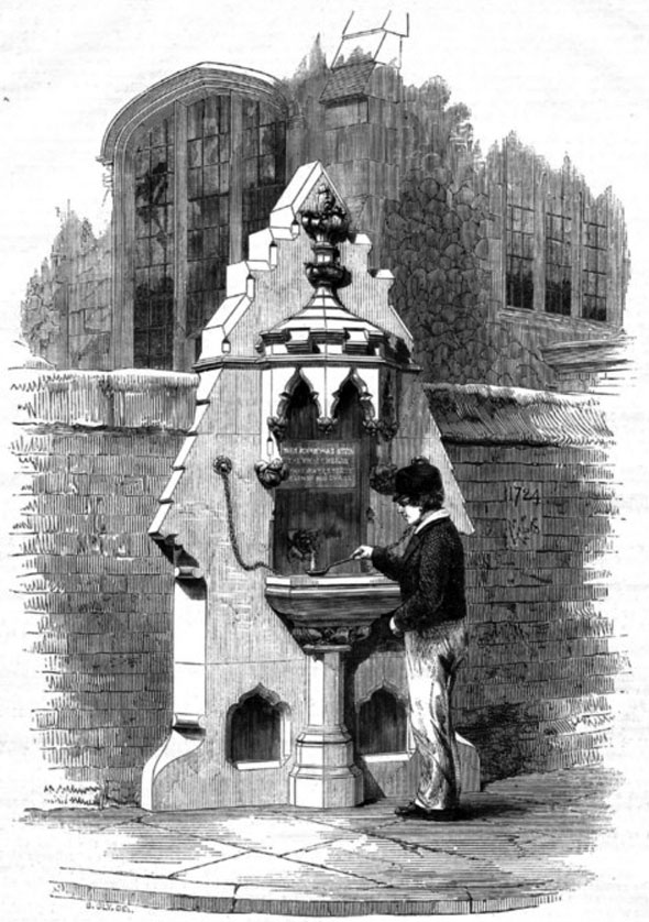 1860 – Drinking Fountain,  St. Georges Colegate, Norwich, Norfolk