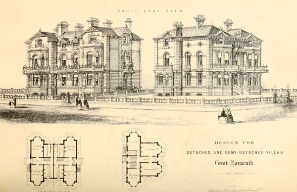 1867 &#8211; Ideas competition for villas, Great Yarmouth, Norfolk