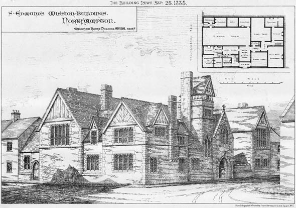 1885 &#8211; St. Edmund&#8217;s Misson Buildings, Northampton, Northamptonshire