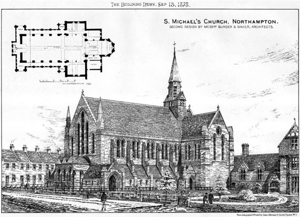 1878 &#8211; St. Michael&#8217;s Church, Northampton, Northamptonshire