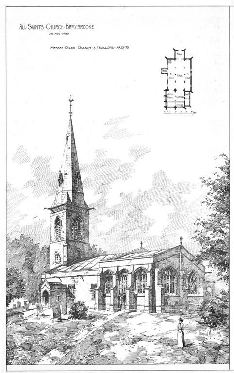 1891 &#8211; Church of All Saints, Braybrooke, Northamptonshire