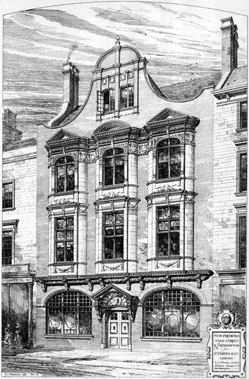 1882 – New Premises, Gold Street, Northampton, Northamptonshire