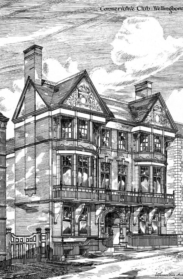 1885 &#8211; Conservative Club, Wellingborough,  Northamptonshire