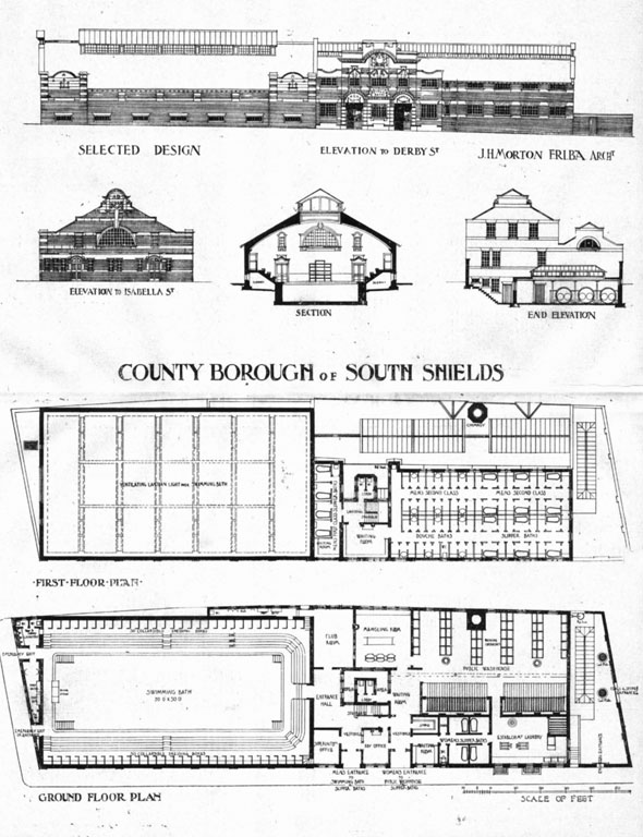 1905 &#8211; Public Baths &#038; Wash-Houses, South Shields, Northumberland