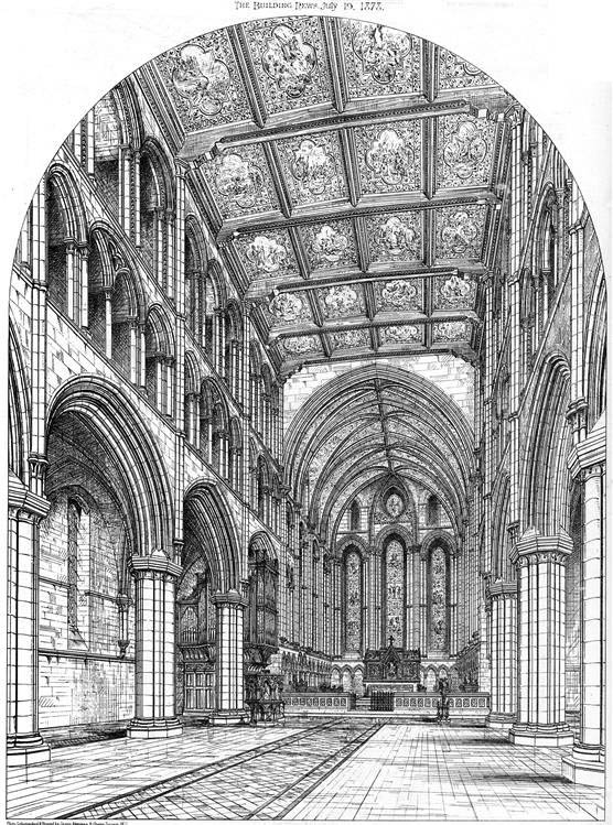 1878 &#8211; Tynemouth Priory Church Proposed Restoration, Northumberland