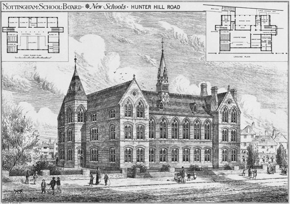 1878 &#8211; New Schools, Hunter Hill Road, Nottingham, Nottinghamshire