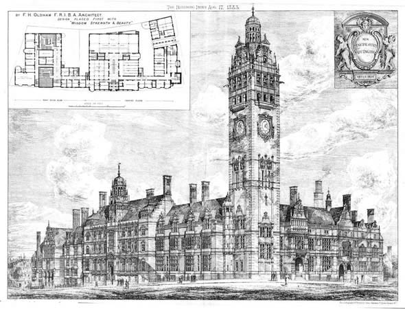 1888 – New Municipal Buildings, Nottingham, Nottinghamshire