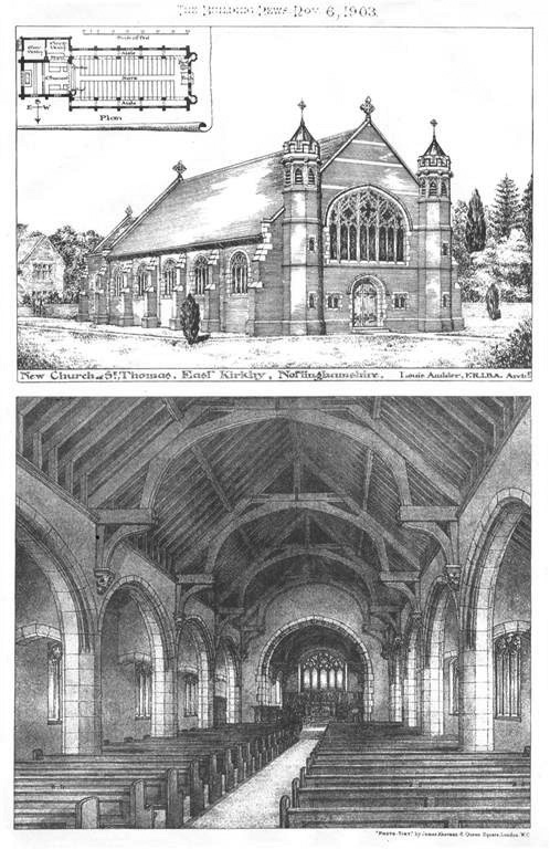 1903 – Church of St.Thomas, East Kirby, Nottinghamshire