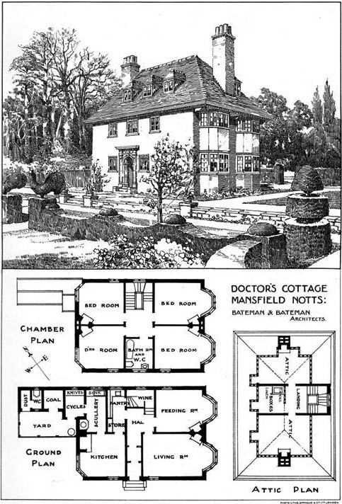 1904 – Doctor's Cottage, Mansfield, Nottinghamshire